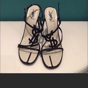 YSL logo heels